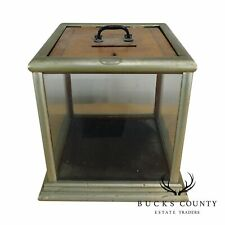 F.X. Ganter Manufacturer Baltimore Antique Nickel Plated Ballot Box
