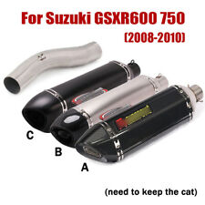 For Suzuki GSXR 600 750 2008-2010 Mid Link Pipe Motorcycle Exhaust Pipe Silencer