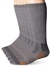 Carhartt Men'S 6 Pack All Season- All Terrain Crew Sock,  Grey, Sock Size:10-1