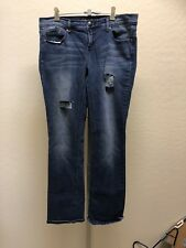 2B BEBE GISELLE SLIM BOOT  BLUE JEANS PANTS MEDIUM RN#86017)