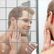 Creative Set Of Decor Self-adhesive Stick-on Mirror Tile Sickers Home Dec^