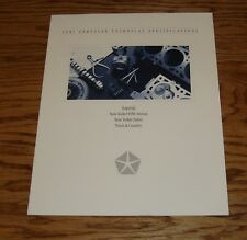 Original 1991 Chrysler Technical Specifications Sales Brochure 91 Imperial