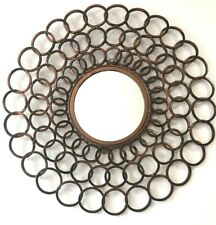 Wall Mirror Round Home Office Living Room Wall Hanging Art Sculpture Metal 62 CM