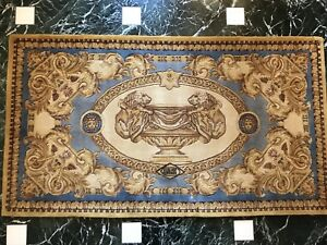 Original Gianni Versace Atelier Rug Carpet Hand Knotted Wool With Silk - Rare