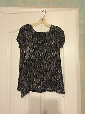Nordstrom Painted Threads Loose Knit Top Blouse Lace Back Size Small