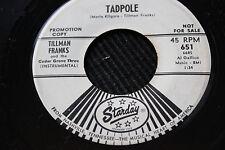 "TILLMAN FRANKS ""Tadpole"" & ""Pretty Little Girls"" 45rpm Starday Records Nashville"
