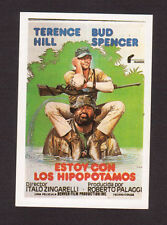 Terence Hill Bud Spencer Vintage 1984 Spanish Movie Film Collector Card C