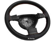 FITS DAIHATSU MATERIA 06-12PERFORATED LEATHER STEERING WHEEL COVER ORANGE STITCH