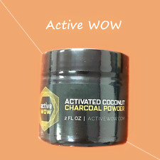 Active Wow Activated Coconut Charcoal Tooth Powder Natural Teeth Whitening 59Ml