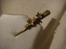 Concorde hair clip peach and yellow flowers bronze clip