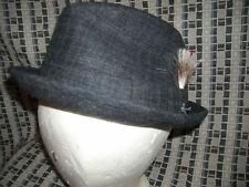 Vtg 50S Mens 7 Knox Wool Tweed Black Fedora Quality Hat