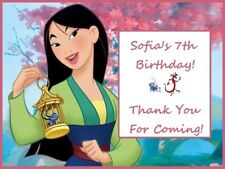 18 Personalized Mulan party stickers,birthday favors,supply,bag box labels