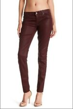 Level 99 Womens Coated Jeans, Burgundy, Size 30/10, NWT