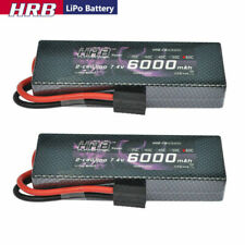 2pcs HRB 7.4V 6000mAh 2S LiPo Battery 60C Traxxas for RC Car Truck Buggy