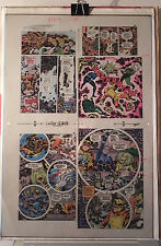 NEW GODS BOOK 6 FLAT 18 JACK KIRBY ORIGINAL 3M COLOR ART SIGNED A. TOLLIN w/COA