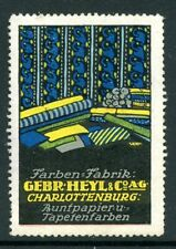 Germany Poster Stamp Gebhard Heyl & Co Charlottenburg Wall Paper Maker