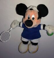 "Disney 10"" Mickey Mouse Tennis Player Plush Doll Disney Store"
