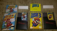 Vintage NES Super Mario Bros. 2 & 3 COMPLETE in BOX Lot Nintendo CIB Games MINT