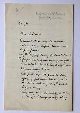 Henri Germain (1824–1905) -Banker  - handgeschriebener , signierter Brief