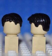 LEGO PARTS - 1X MINIFIGURE WIG/BLACK HAIR PIECE/MALE/BOY/SHORT/TOUSLED / R