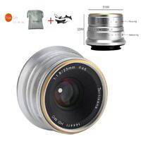 7artisans 25mm F1.8 Manual Lens for Fuji FX-mount X-Pro1 X-Pro2 X-A1 T10 Silver