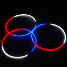 "50 24"" RED WHITE BLUE Glow Stick Necklaces July Fourth"