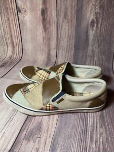 RARE Margaritaville Cay Patchwork Slip On Canvas Loafers Mens Chill Size 14