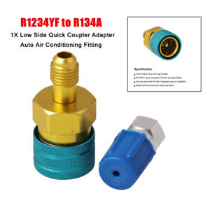 1PC Car R1234YF to R134a Low Side Quick Coupler Adapter Air Conditioning Fitting