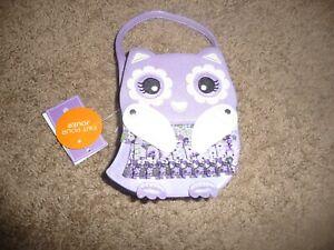 NEW Gymboree Whooo's Cute purple Owl Kids Purse NWT
