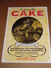 CAKE - UK live band music show promotional tour concert gig poster