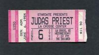 1984 Judas Priest Great White concert ticket stub La Crosse WI Metal Conqueror