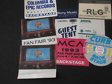 Backstage Passes & Others-Country Music Collectables-1993 June Fan Fair Shows
