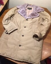 Vtg Men's Tempco Quilters Seattle Down Insulated Jacket Faux Fur Collar Large L