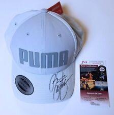Rickie Fowler Signed Puma Hat Mono Cubic Trucker Medium Grey PGA JSA COA