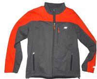 New Balance men's grey and orange softshell Jacket size Medium