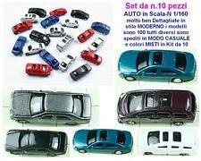 SET n.10 AUTO CAR in STILE MODERNO - MODELLI DIVERSI e COLORI ASSORTITI SCALA-N
