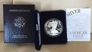 1997-P US AMERICAN EAGLE ONE OUNCE 99.9% SILVER, PROOF DOLLAR COIN