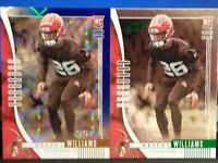 GREEDY WILLIAMS BROWNS 2019 ABSOLUTE ROOKIE & BLUE ROOKIE PARALLEL SP 20/50  2X