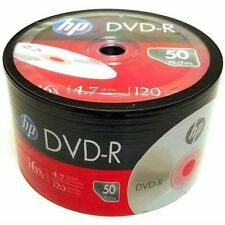 HP Blank DVD-R DVDR Logo Branded 16X 4.7GB 120min Recordable Media Disc