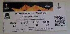 Ticket Krasnodar Russia - Valencia Spain 2018-2019 Europa League