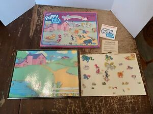 Vintage 1985 Hasbro My Little Pony Puffy Sticker Playset With Box