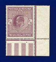 1911 SG315 2s6d Dull Greyish Purple M50(1) Corner Marginal MMH Cat £950 datd