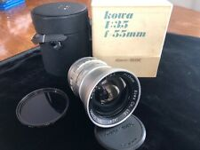 Kowa Six Vintage Lens 55mm f/3.5 Wide Angle W/ Rear Cap Case Box & Filter READ