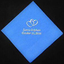 100 Personalized Wedding luncheon napkins dinner custom printed wedding favors