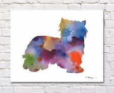 Biewer Abstract Watercolor Painting Art Print by Artist DJ Rogers