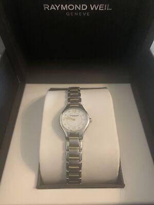 Ladies Raymond Weil Noemia  Diamond Steel / Gold Plated Watch In VGC