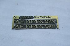 00 Gauge (4mm) nameplate:60525 'A.H Peppercorn' LNER A2 - suit /Bachman