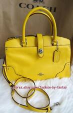 New w Tag Coach 37575 Grain Leather Mercer 30 Satchel/Shoulder Bag Yellow