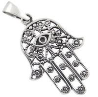 Hand der Fatima Anhänger Silber 925 Kettenanhänger Schutzsymbol b585