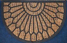 JVL Coir & Rubber Scraper Half Moon Doormat Alba 40cm x 60cm
